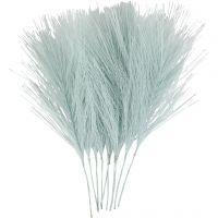 Artificial feathers, L: 15 cm, W: 8 cm, light blue, 10 pc/ 1 pack