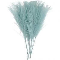 Artificial feathers, L: 15 cm, W: 8 cm, turquoise, 10 pc/ 1 pack