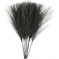 Artificial feathers, L: 15 cm, W: 8 cm, black, 10 pc/ 1 pack
