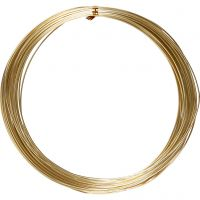 Aluminium Wire, round, thickness 1 mm, gold, 16 m/ 1 roll