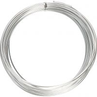 Aluminium Wire, round, thickness 2 mm, silver, 10 m/ 1 roll