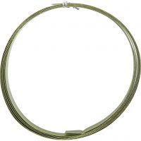 Aluminium Wire, flat, W: 15 mm, thickness 0,5 mm, green, 2 m/ 1 roll