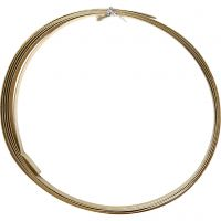 Aluminium Wire, flat, W: 15 mm, thickness 0,5 mm, gold, 2 m/ 1 roll