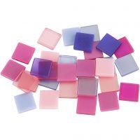 Mini Mosaic, size 10x10 mm, lilac/dark lilac, 25 g/ 1 pack