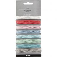 Cotton Cord, thickness 1 mm, assorted colours, 8x5 m/ 1 pack