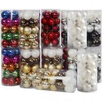 Christmas Ornaments, D: 6 cm, 24x20 pc/ 1 pack
