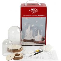 Kits for bells with inner decoration, H: 12,5+18 cm, 2 pc/ 1 pack