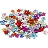 Rhinestones, D: 6+10+12 mm, assorted colours, 252 pc/ 1 pack