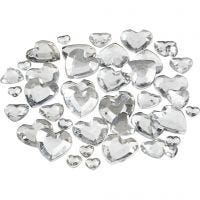 Rhinestones, size 6+10+14 mm, silver, 252 pc/ 1 pack