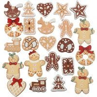 Wooden Shapes, H: 20-30 mm, 100 pc/ 1 pack