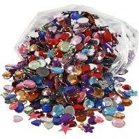 Rhinestones, size 10-15 mm, 1600 pc/ 1 pack