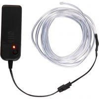 LED Light Cord, L: 3 m, neon blue, white, 1 pc