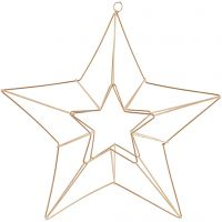 Hanging ornament, star, size 34x30 cm, brass, 1 pc