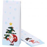 Christmas goodie bag, Christmas motif, size 10x6x28 cm, 100 pc/ 1 pack