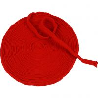 Knitted Tube, W: 10 mm, christmas red, 10 m/ 1 roll