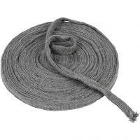 Knitted Tube, W: 15 mm, grey, 10 m/ 1 roll