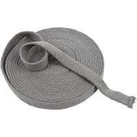 Knitted Tube, W: 22 mm, grey, 10 m/ 1 roll