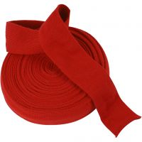 Knitted Tube, W: 60 mm, christmas red, 10 m/ 1 roll