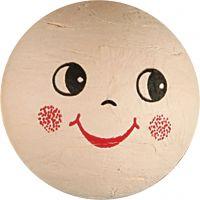 Compressed Cotton Faces, D: 40 mm, light beige, 5 pc/ 1 pack