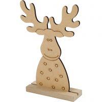 Christmas figure, Reindeer, H: 15 cm, depth 3 cm, W: 11 cm, 1 pc