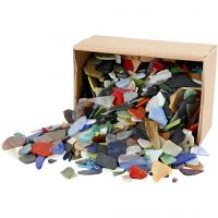 Mosaics, size 15-60 mm, assorted colours, 2 kg/ 1 pack