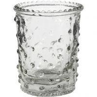 Tea Light Candle Holder, H: 7,8 cm, D: 6,4 cm, 100 ml, 6 pc/ 1 box