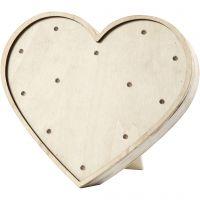 Heart Light Box, H: 21 cm, W: 23,5 cm, 2. sort, 1 pc