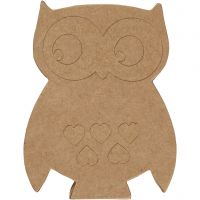 Owl, H: 18 cm, depth 2,5 cm, 1 pc