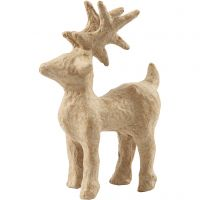 Reindeer, H: 12,8 cm, L: 8,6 cm, 1 pc