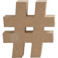 Symbol, #, H: 13 cm, thickness 2 cm, 1 pc