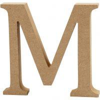 Letter, M, H: 13 cm, thickness 2 cm, 1 pc