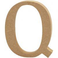 Letter, Q, H: 13 cm, thickness 2 cm, 1 pc