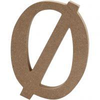 Letter, Ø, H: 13 cm, thickness 2 cm, 1 pc