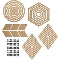 Wall Decorations, H: 5,5-29,5 cm, Content may vary , 10 set/ 1 pack