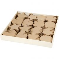 Ornaments, size 10 cm, thickness 2,5 mm, 4x40 pc/ 1 pack