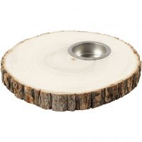 Tea Light Candle Holder, D: 14-16 cm, thickness 19 mm, 1 pc