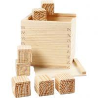 Letter Cubes, size 3x3x3 cm, 27 pc/ 1 pack