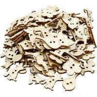Button Mix, size 22x21 mm, thickness 2 mm, 150 pc/ 1 pack