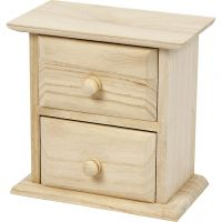 Chest of Drawers, size 13x7,5x13 cm, 1 pc