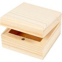 Jewellery Box, size 6x6x3,5 cm, 2 pc/ 1 pack