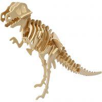3D Construction figure, dinosaur, size 33x8x23 cm, 1 pc