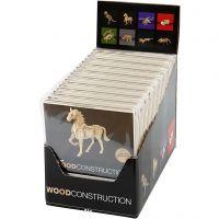 3D Wooden Construction Kit, H: 6-23 cm, 64 pc/ 1 pack