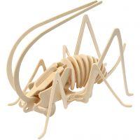 3D Wooden Construction Kit, cricket, size 22,5x15x18 cm, 1 pc