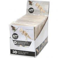 3D Wood Construction Kit with APP, H: 11,5-22 cm, 48 pc/ 1 pack
