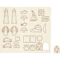 Self-assembly Figures, everyday, L: 15,5 cm, W: 17 cm, 1 pack