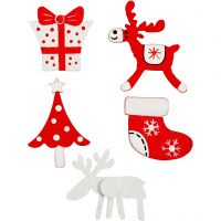 Wooden Stickers, 10 pc/ 1 pack