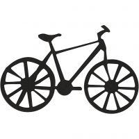 Cardboard Emblem, bicycle, size 77x48 mm, black, 10 pc/ 1 pack