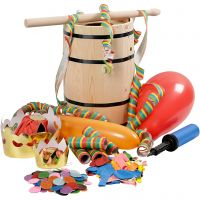 Carnival Barrel with Accessories, H: 38 cm, small, 1 set