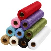 Stockinette, W: 30 cm, assorted colours, 11x10 m/ 1 pack