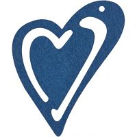 Heart, size 55x45 mm, dark blue, 10 pc/ 1 pack
